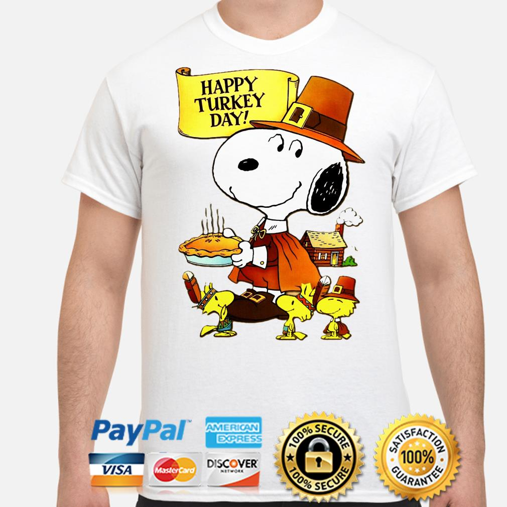Snoopy and Woodstocks Turkey Happy Turkey day shirt