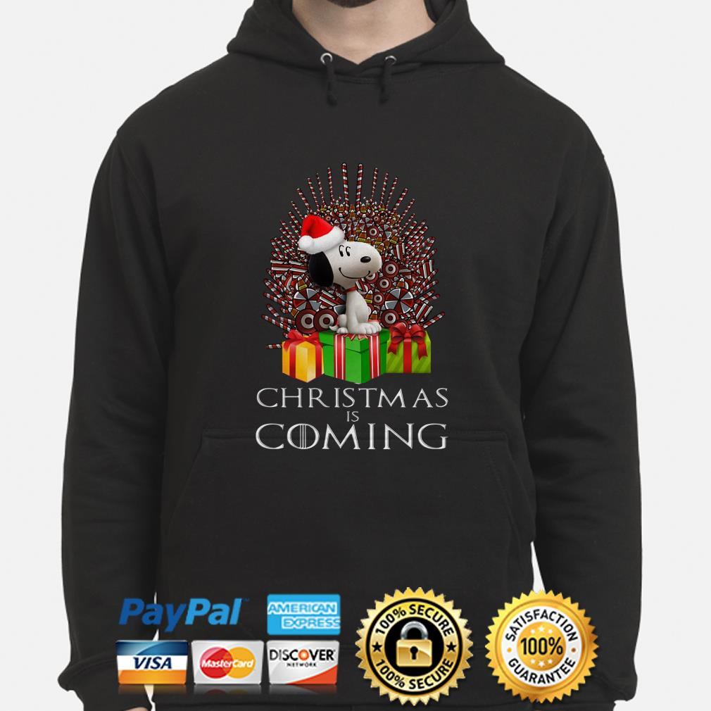Snoopy GOT Iron Throne Christmas is coming hoodie