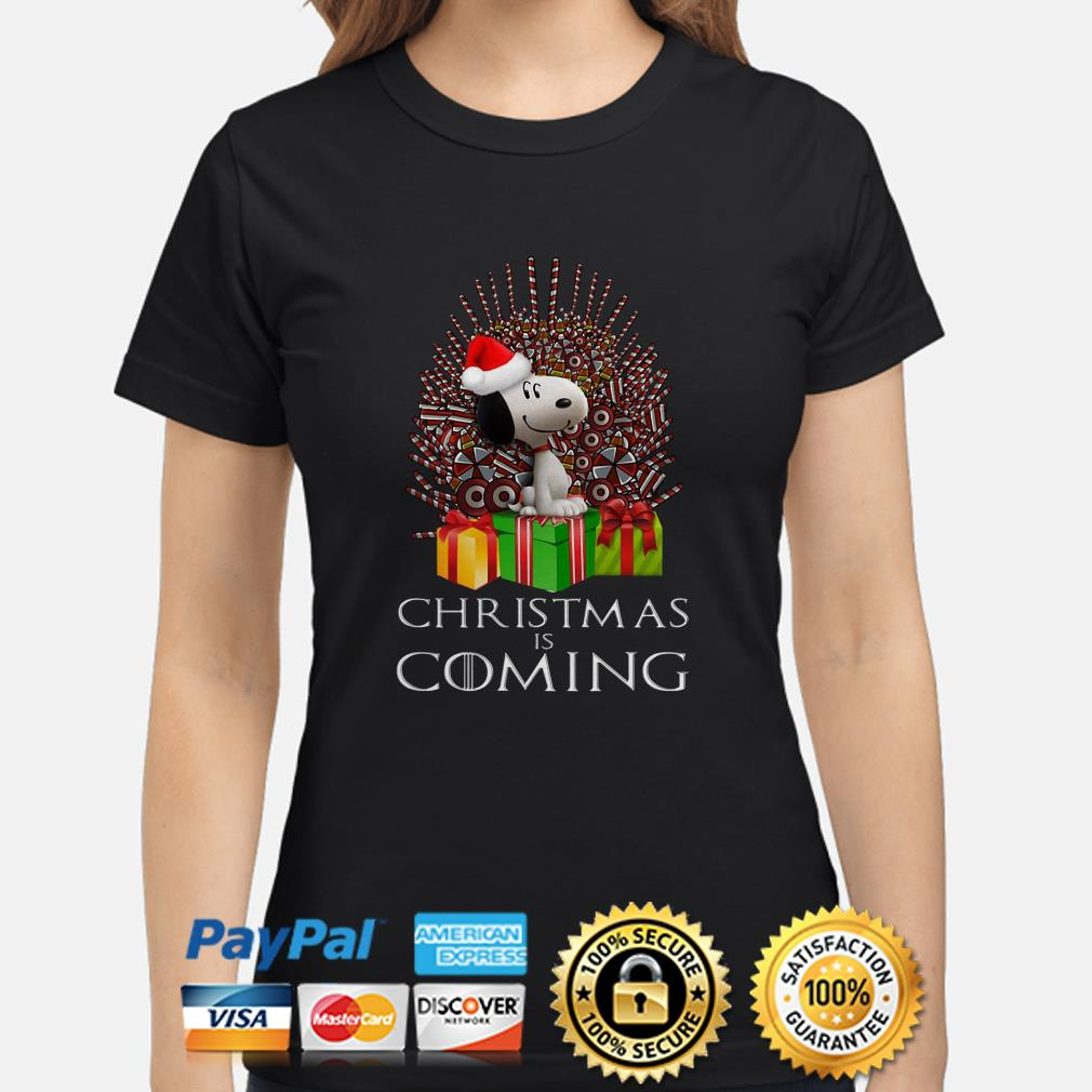 Snoopy GOT Iron Throne Christmas is coming ladies shirt