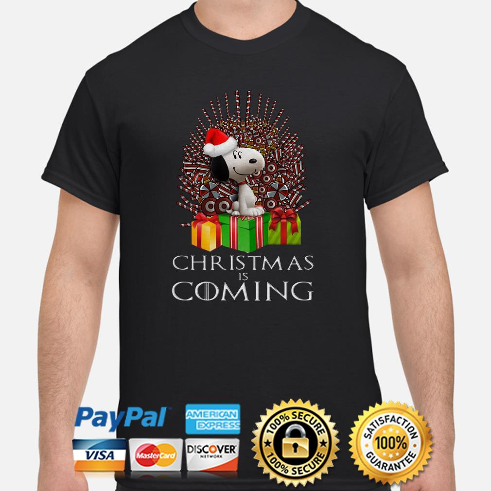 Snoopy GOT Iron Throne Christmas is coming shirt