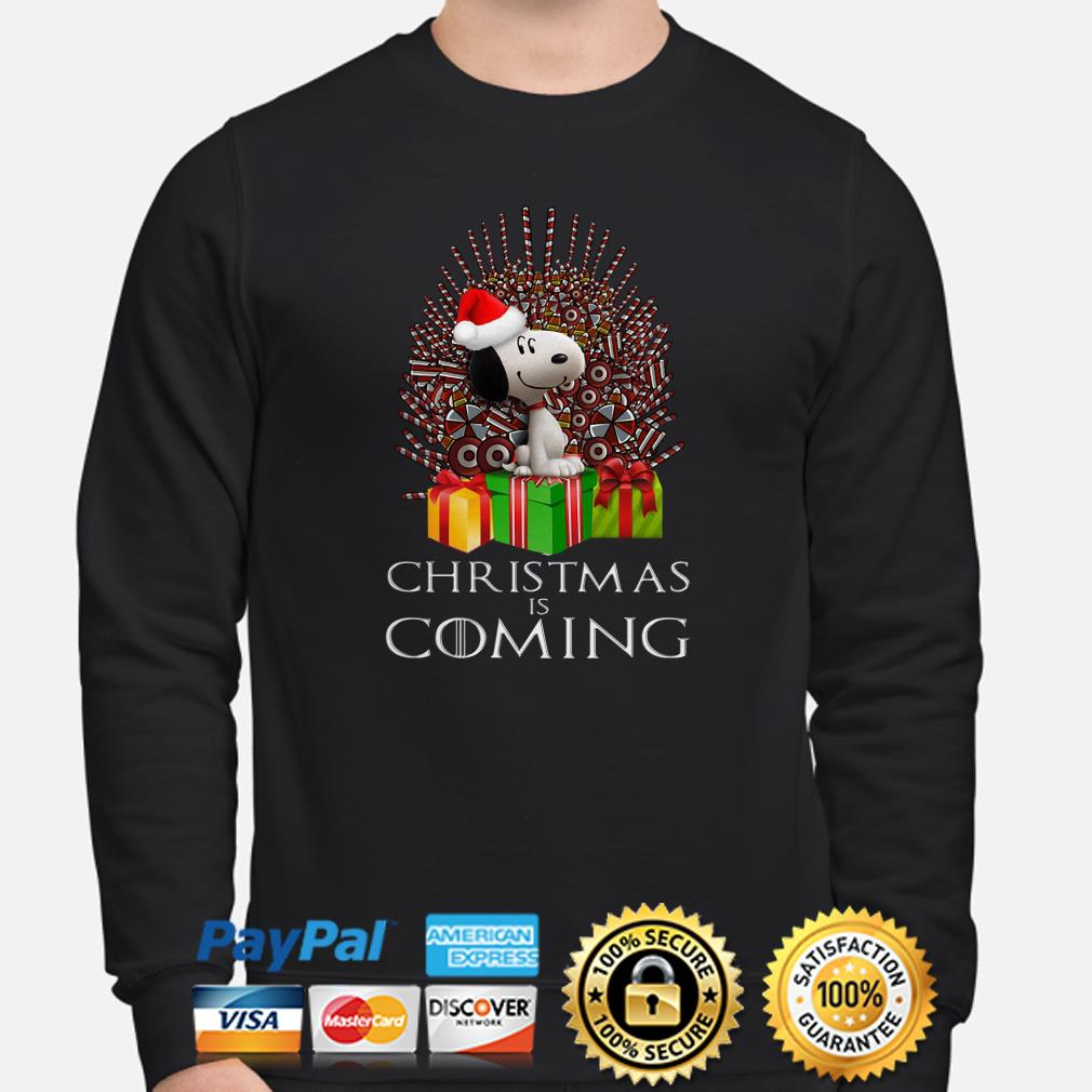 Snoopy GOT Iron Throne Christmas is coming sweater