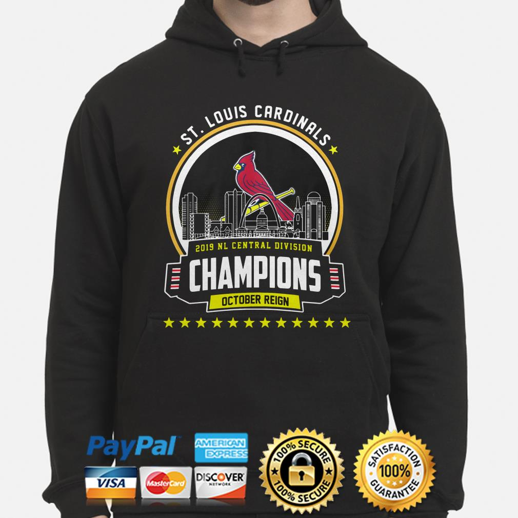 ST Louis Cardinals 2019 NL central Division Champions October reign hoodie