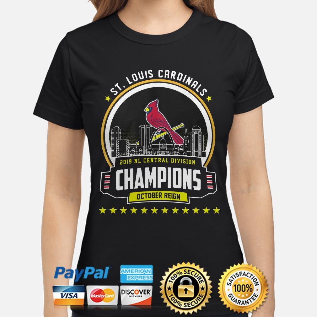 ST Louis Cardinals 2019 NL central Division Champions October reign ladies shirt