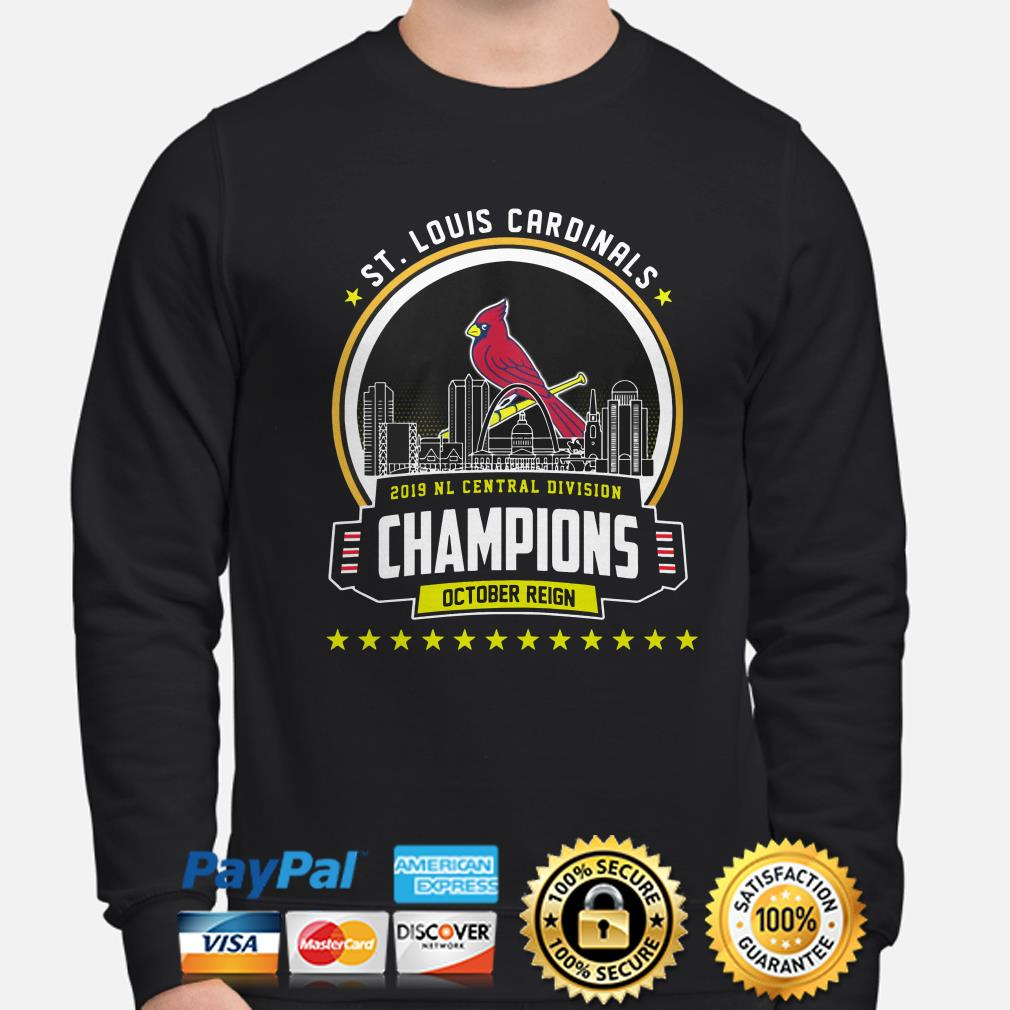 ST Louis Cardinals 2019 NL central Division Champions October reign sweater