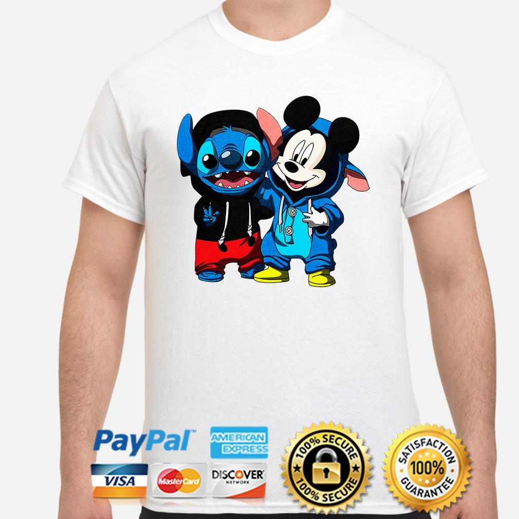 Stitch And Mickey mouse shirt