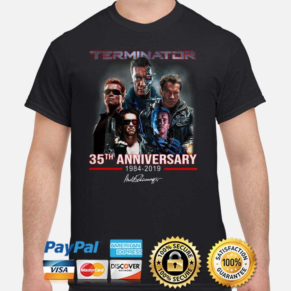 Terninator 35th Anniversary signature shirt
