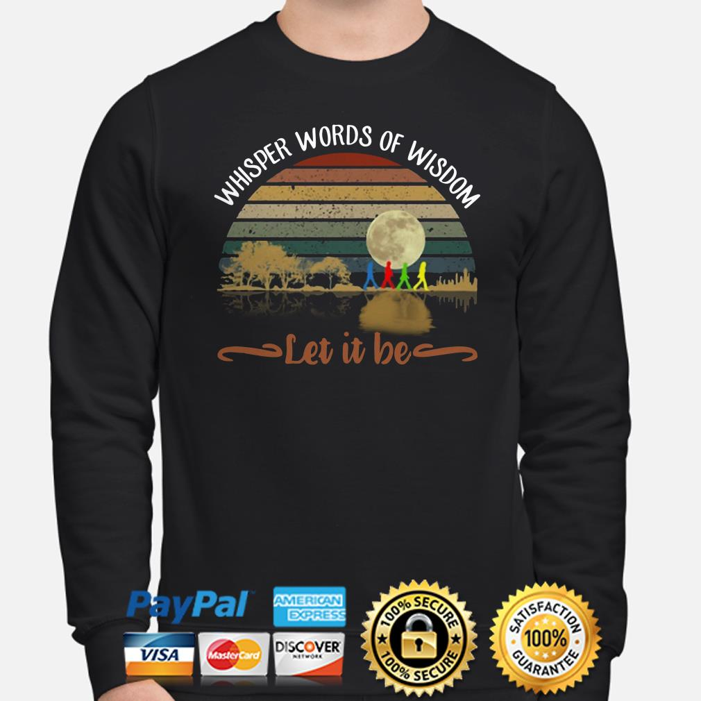 The Beatles Whisper words of Wisdom Let It be Vintage sweater
