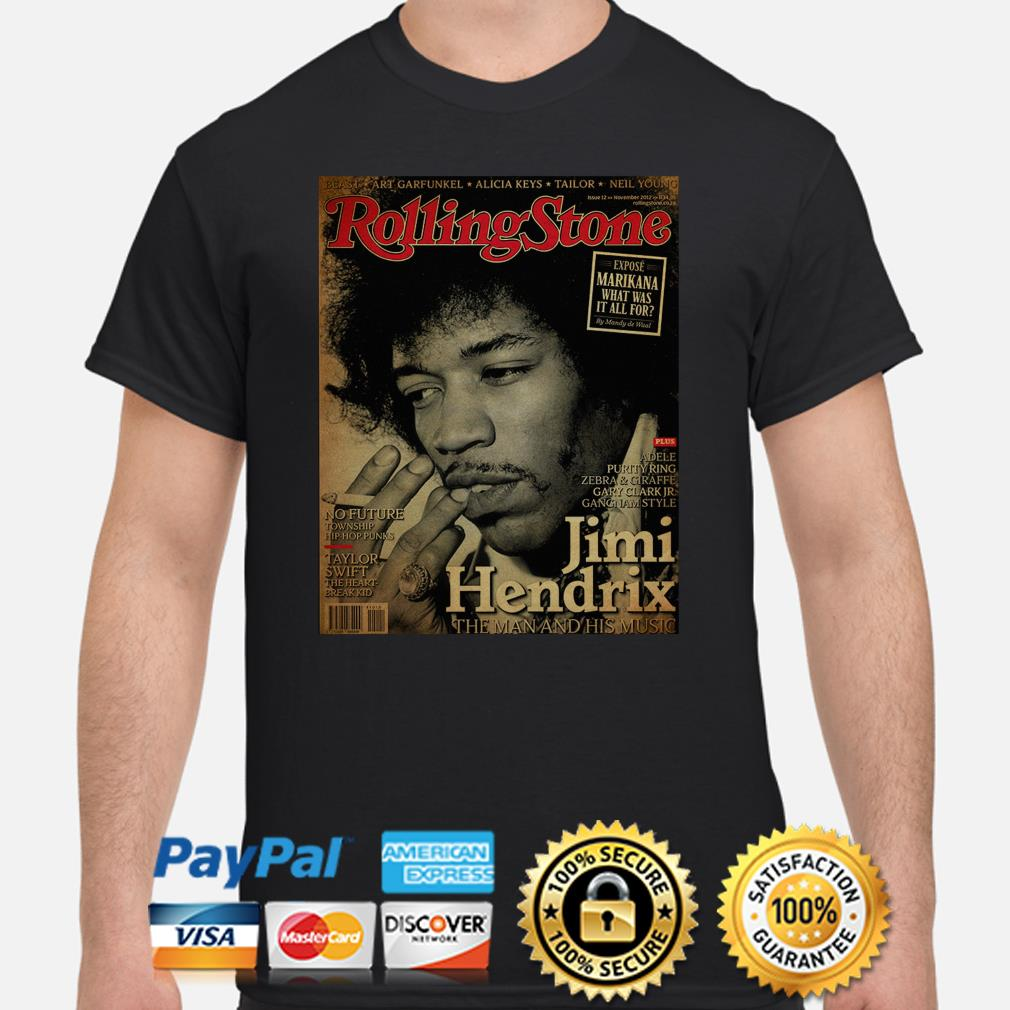 The Rolling Stone Jimi Hendrix the man and his music poster shirt