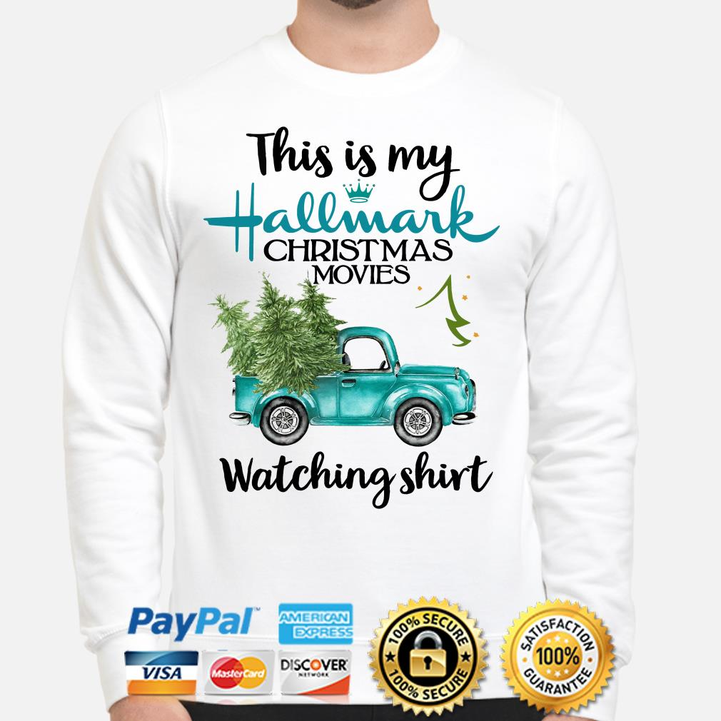 Truck and Pine this is my Hallmark Christmas movies Wtching sweater