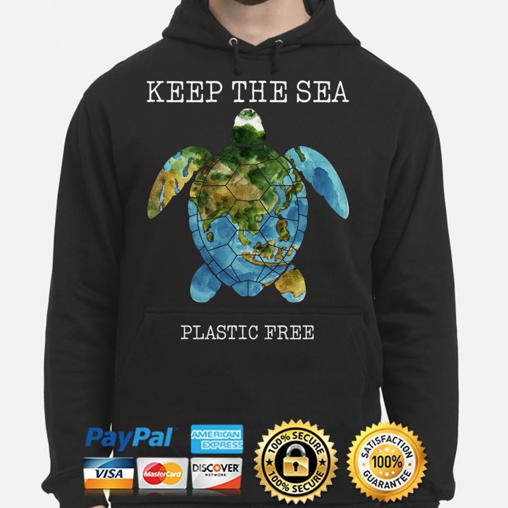 Turtle Keep the sea plastic free hoodie
