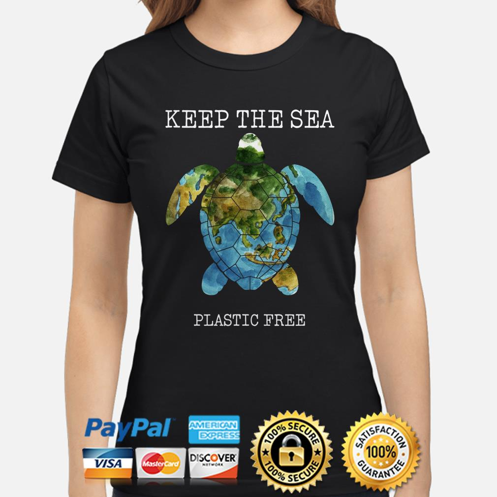 Turtle Keep the sea plastic free ladies shirt