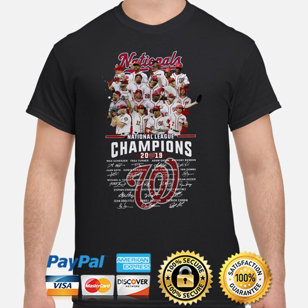 Washington Nationals National Leagu e Champions 2019 Signatures shirt