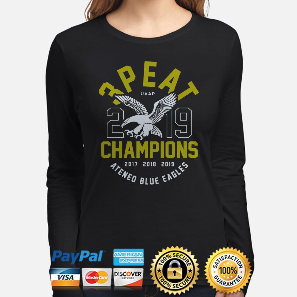 3 Peat UAAP 2019 Champions Ateneo Blue Eagles Long sleeve