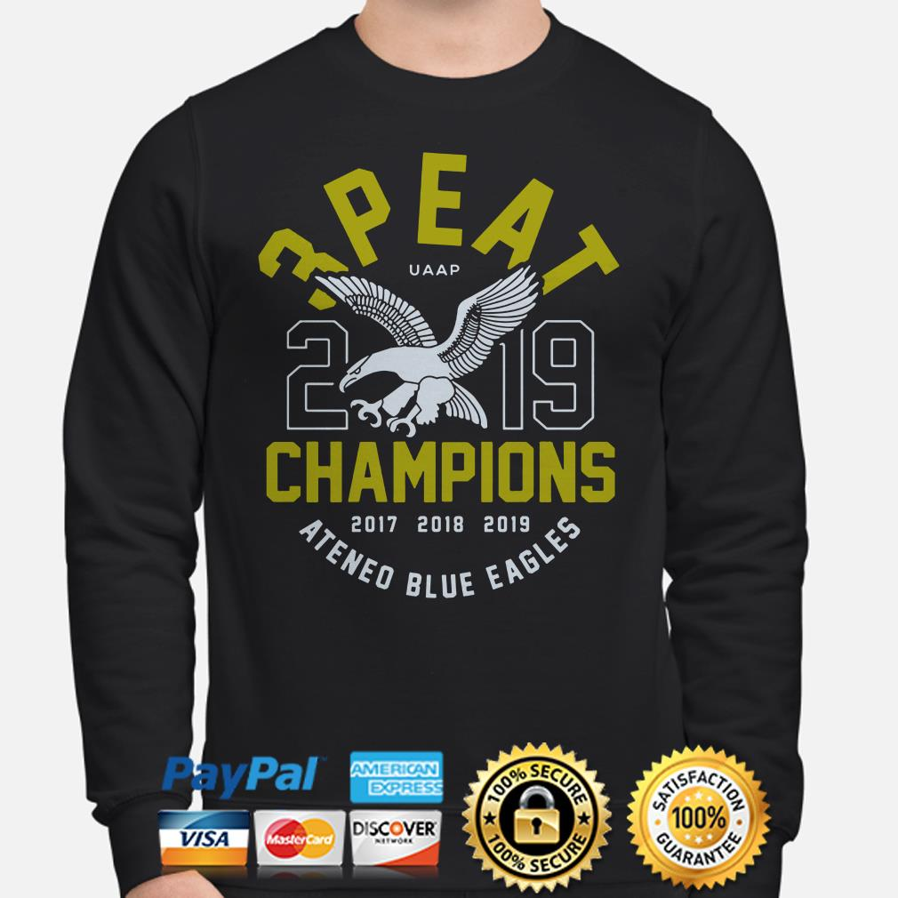 3 Peat UAAP 2019 Champions Ateneo Blue Eagles Sweater