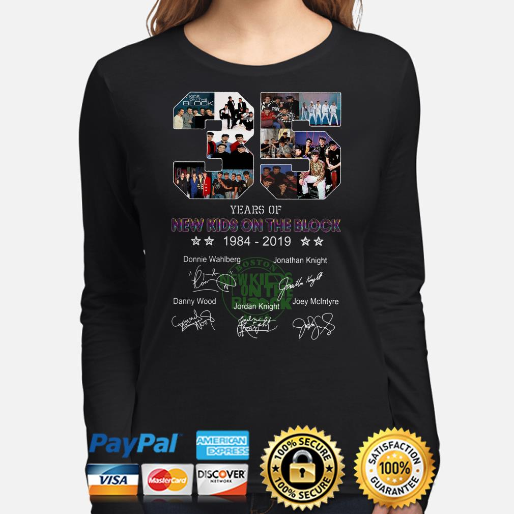 35 years of New Kids On The Block signature long sleeve
