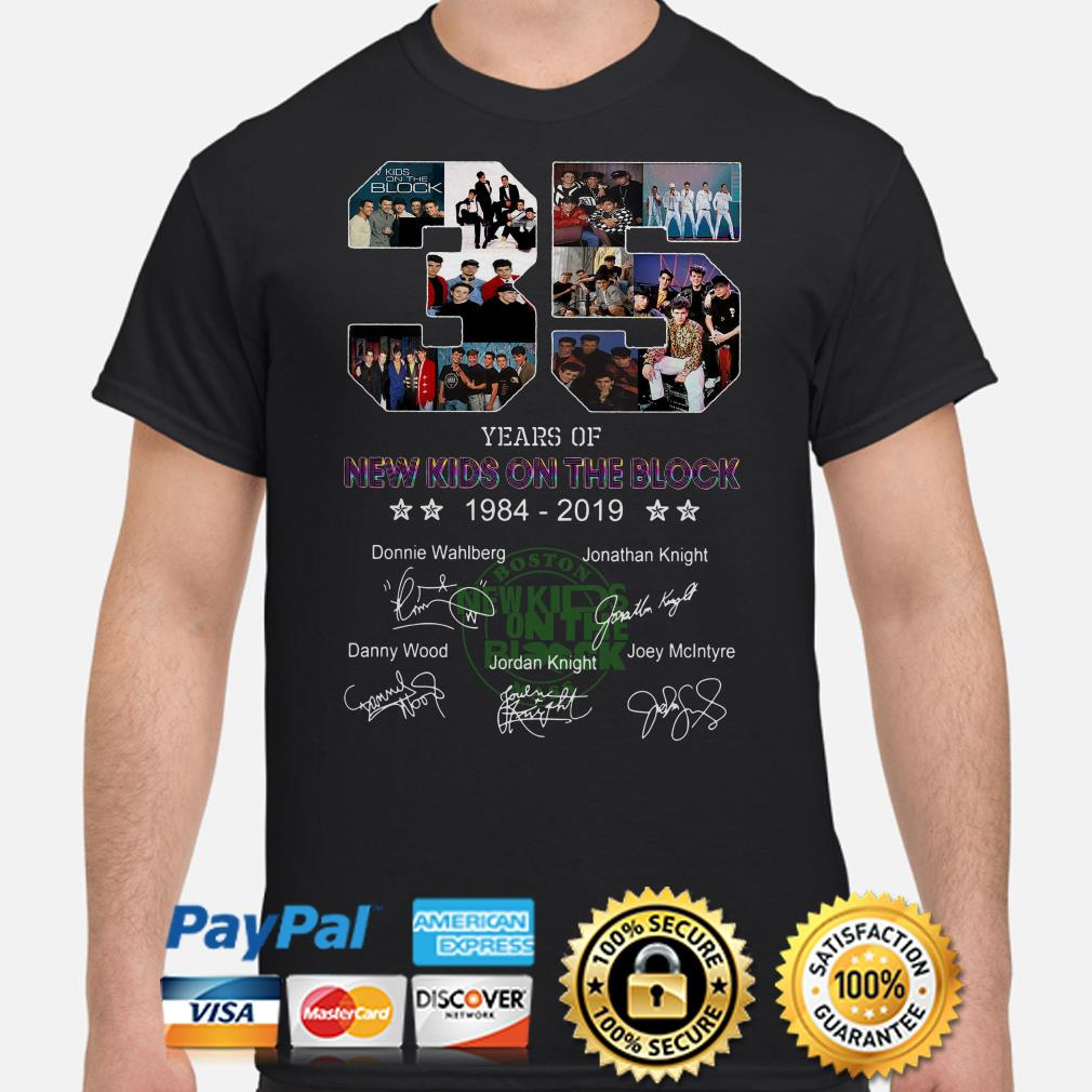 35 years of New Kids On The Block signature shirt