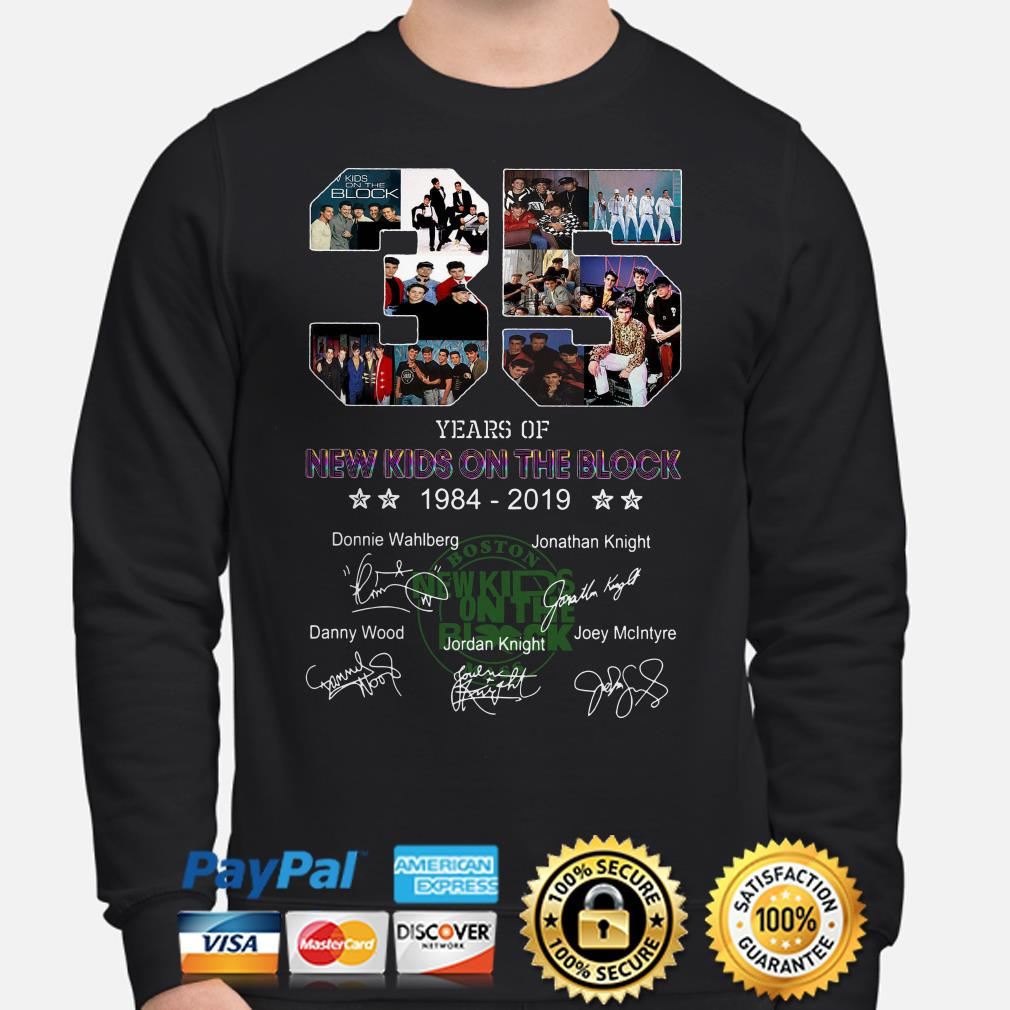 35 years of New Kids On The Block signature sweater