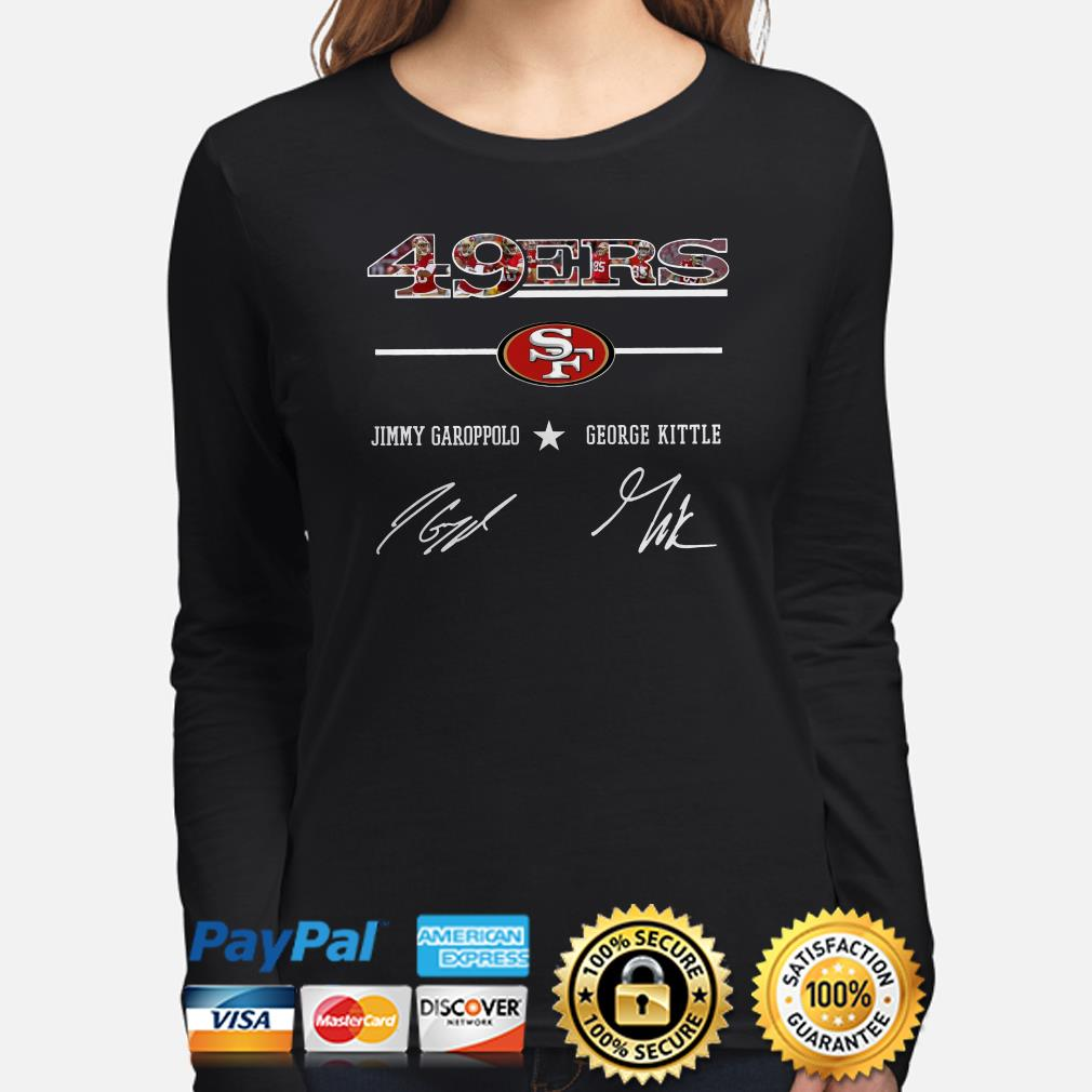 49ers Jimmy Garoppolo George Kittle signature Long sleeve