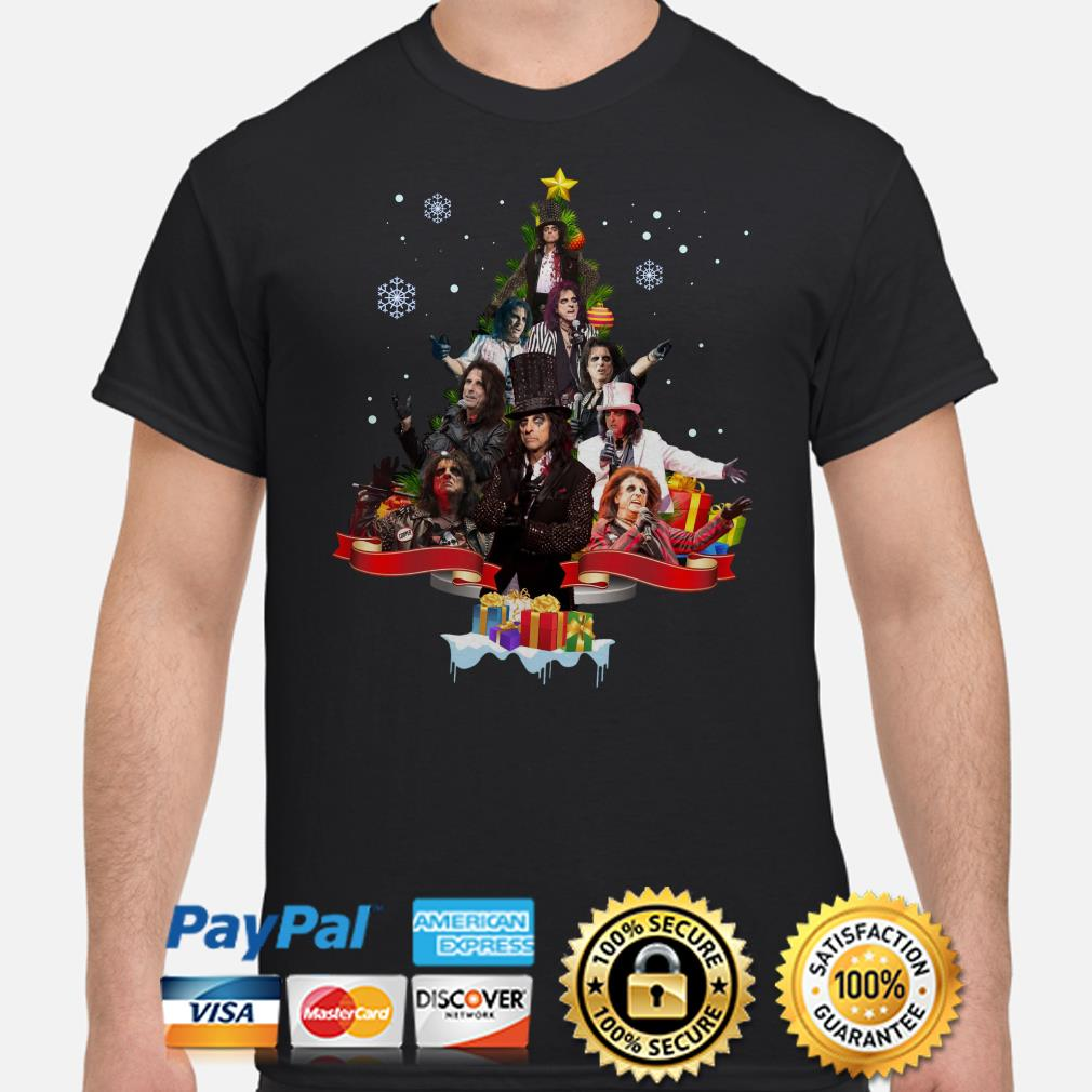 Alice Cooper Christmas tree gift shirt