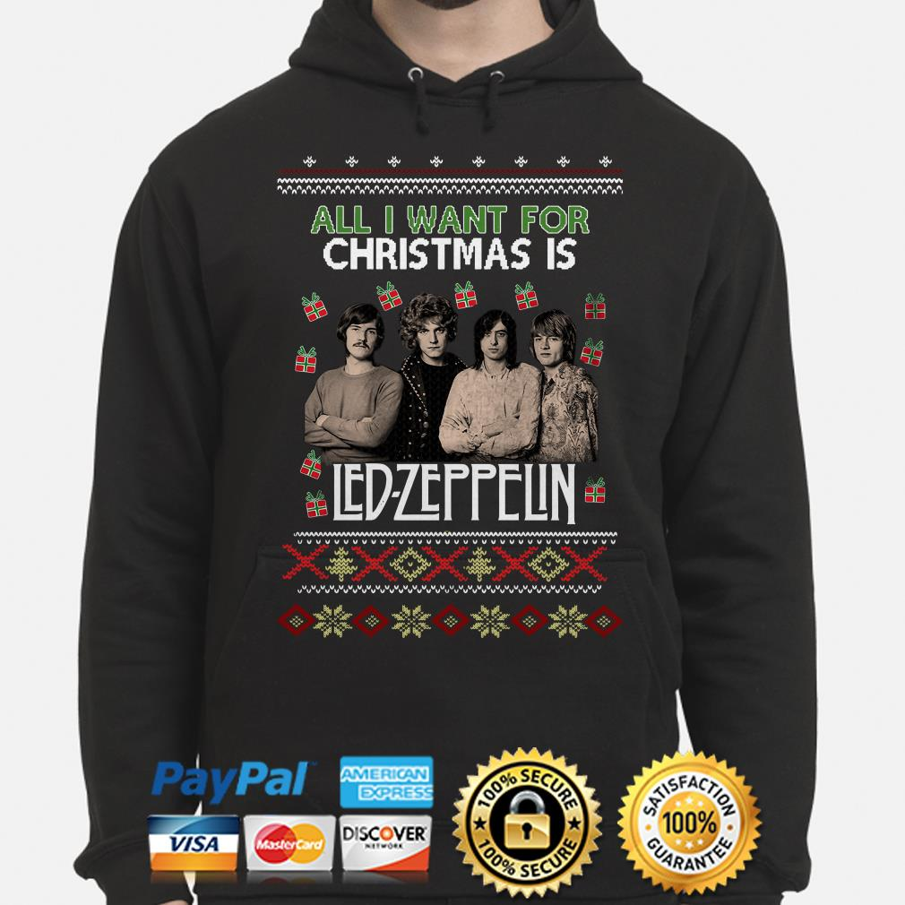 All I want for Christmas is Led Zeppelin ugly hoodie