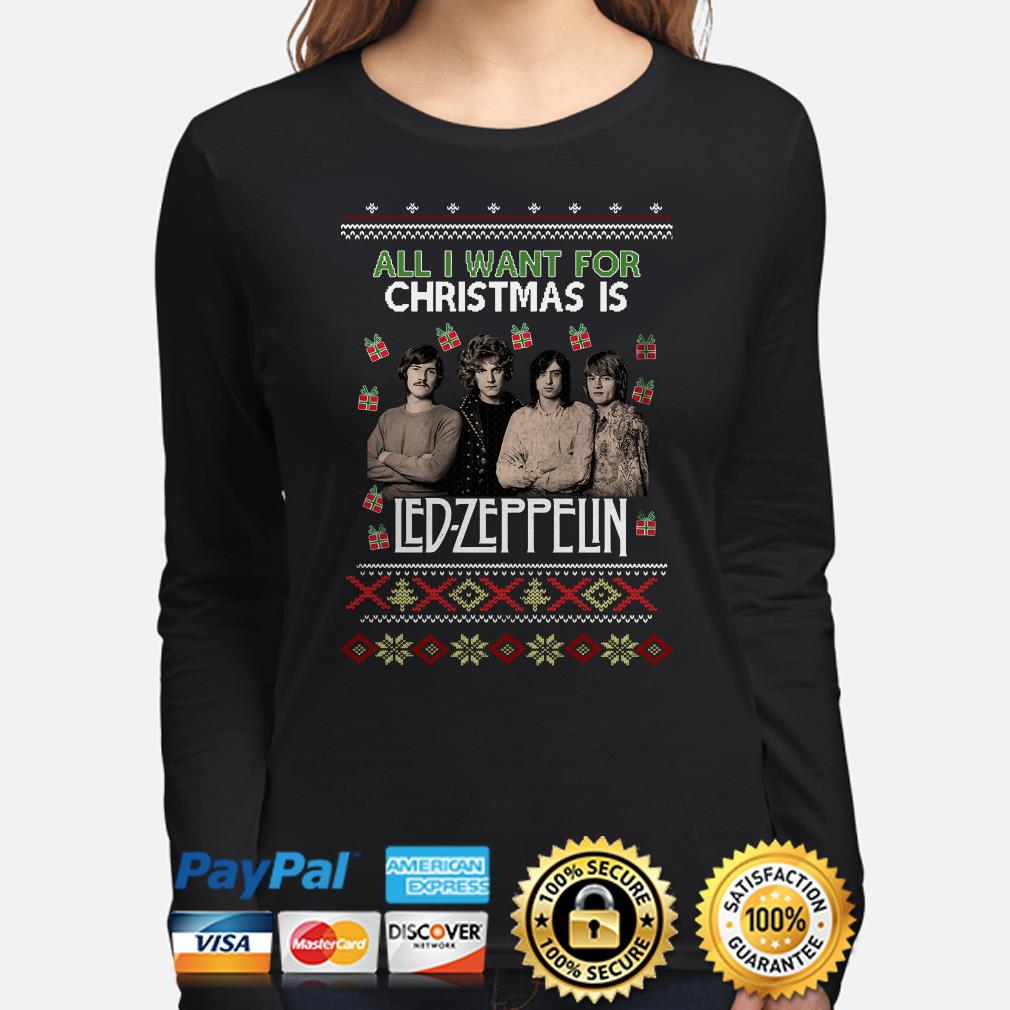 All I want for Christmas is Led Zeppelin ugly long sleeve