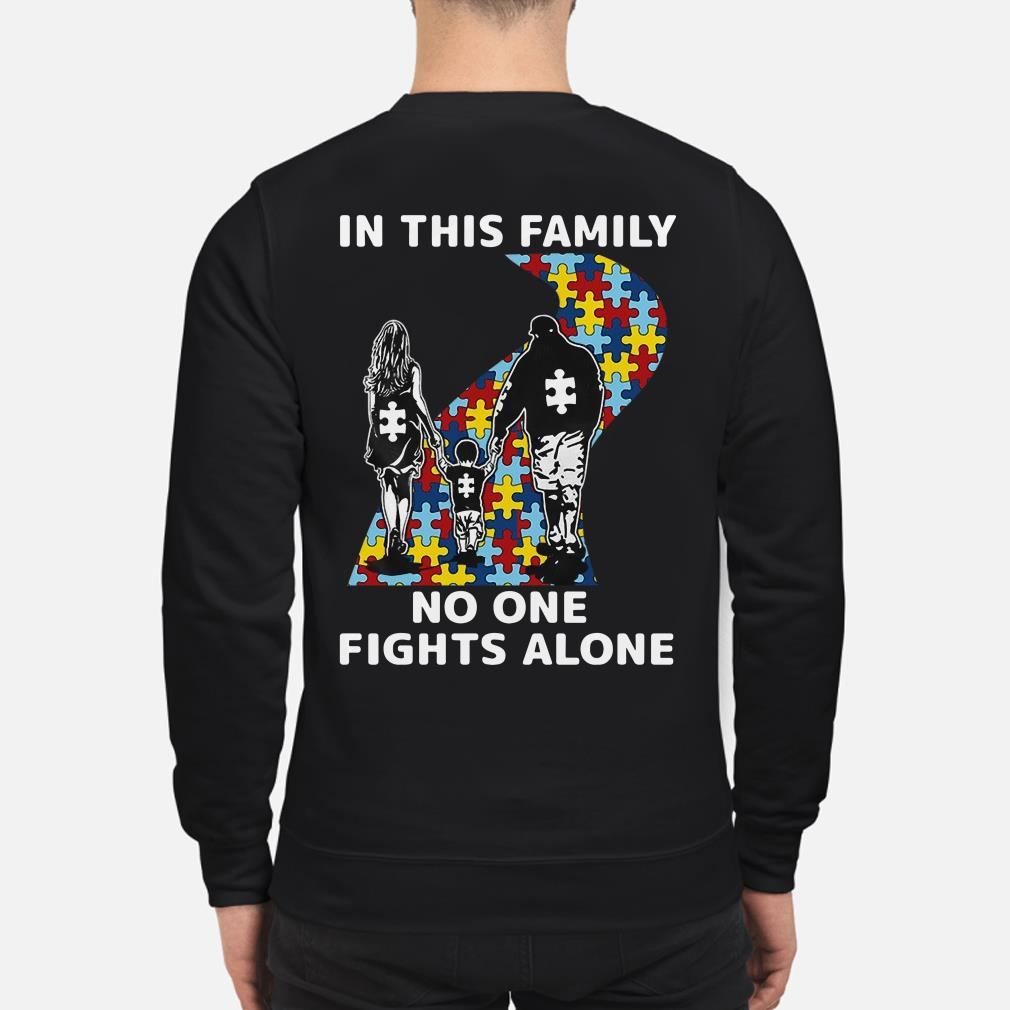 Autism in this family no one fights alone sweater