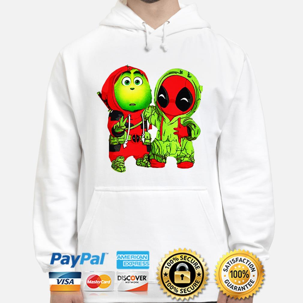 Baby Grinch and Deadpool Christmas hoodie
