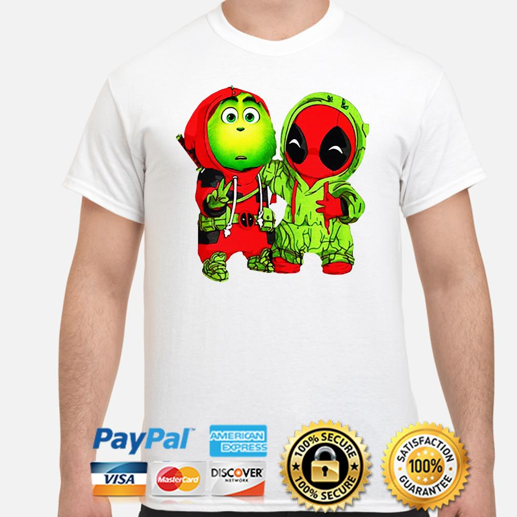 Baby Grinch and Deadpool Christmas shirt