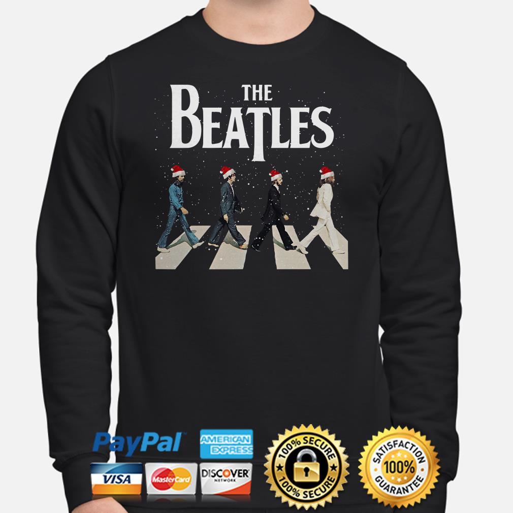 The Beatles Santa Claus Abbey Road Christmas sweater