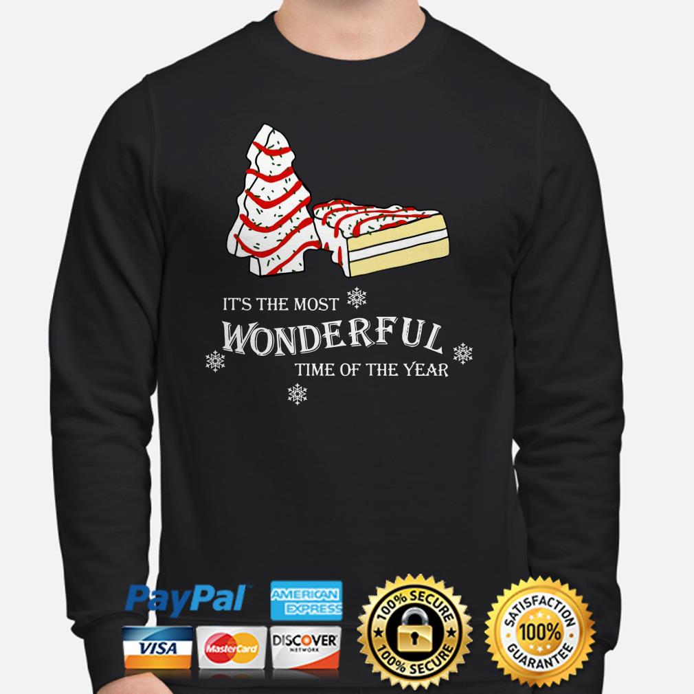Cakes Christmas tree it's the most wonderful time of the years sweatshirt