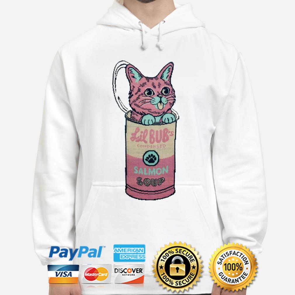Cat in Lil Bub's Condensed Salmon soup Hoodie