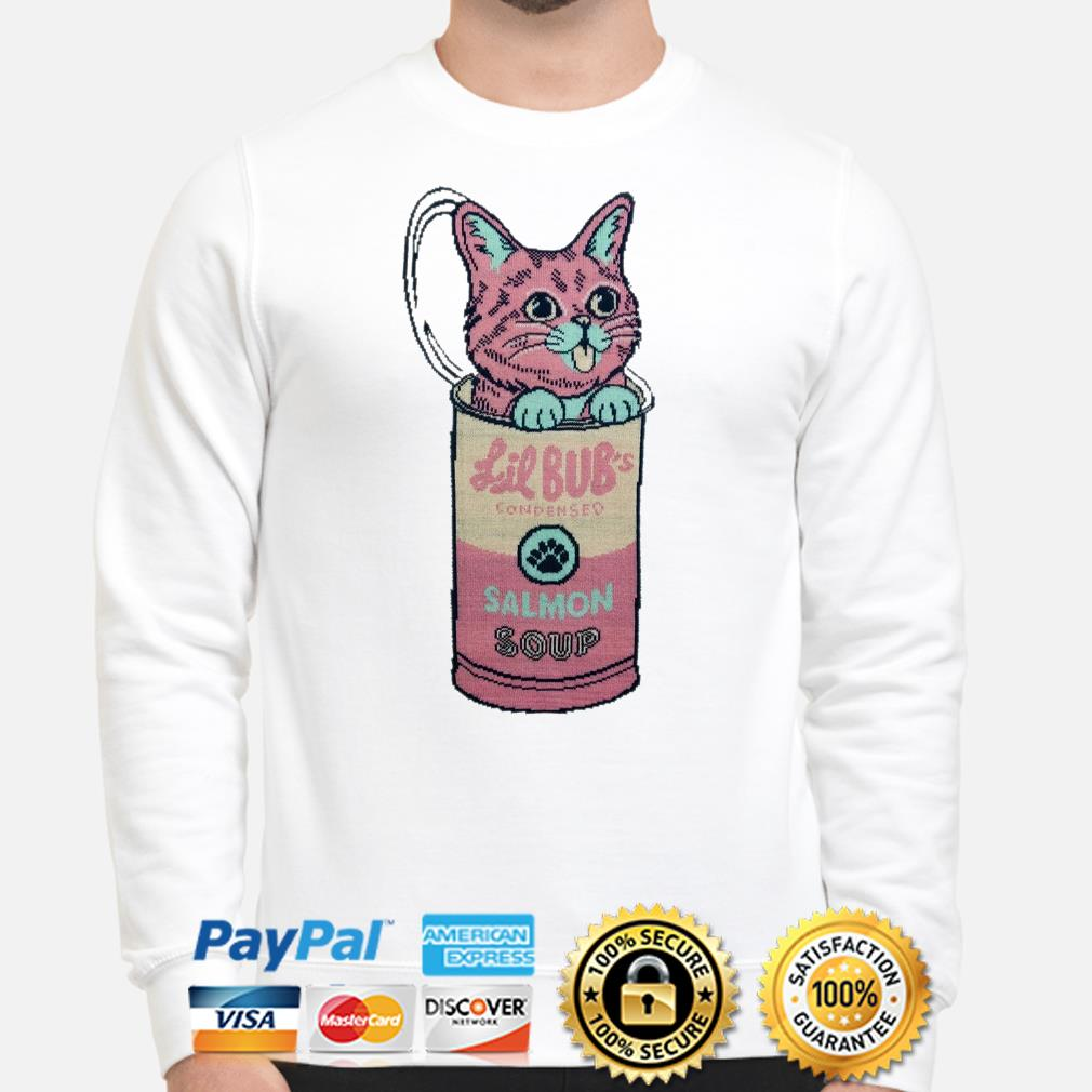 Cat in Lil Bub's Condensed Salmon soup Sweater