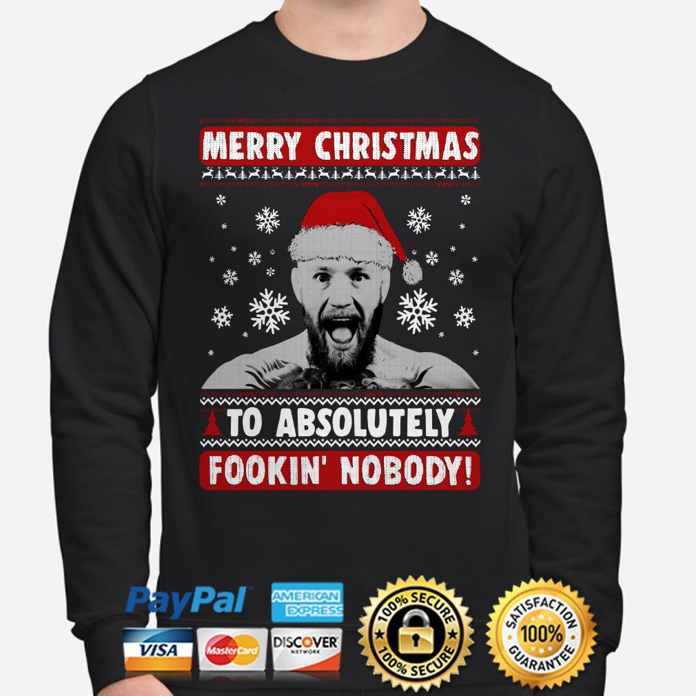 Conor Mcgregor Merry Christmas to absolutely fookin' nobody ugly Christmas sweater