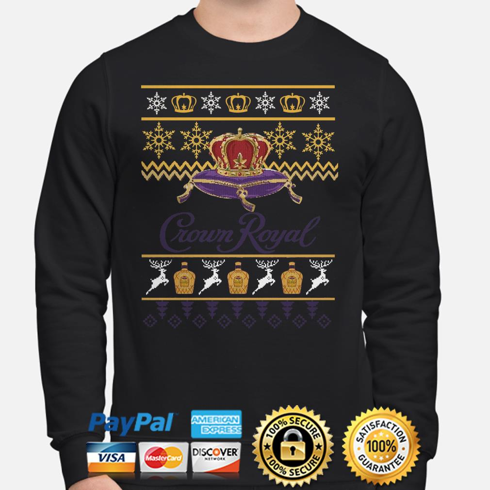 Crown Royal Whiskey ugly Christmas sweater