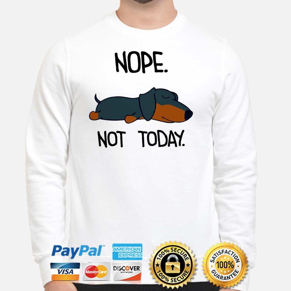 Dachshund nope nt today sweater