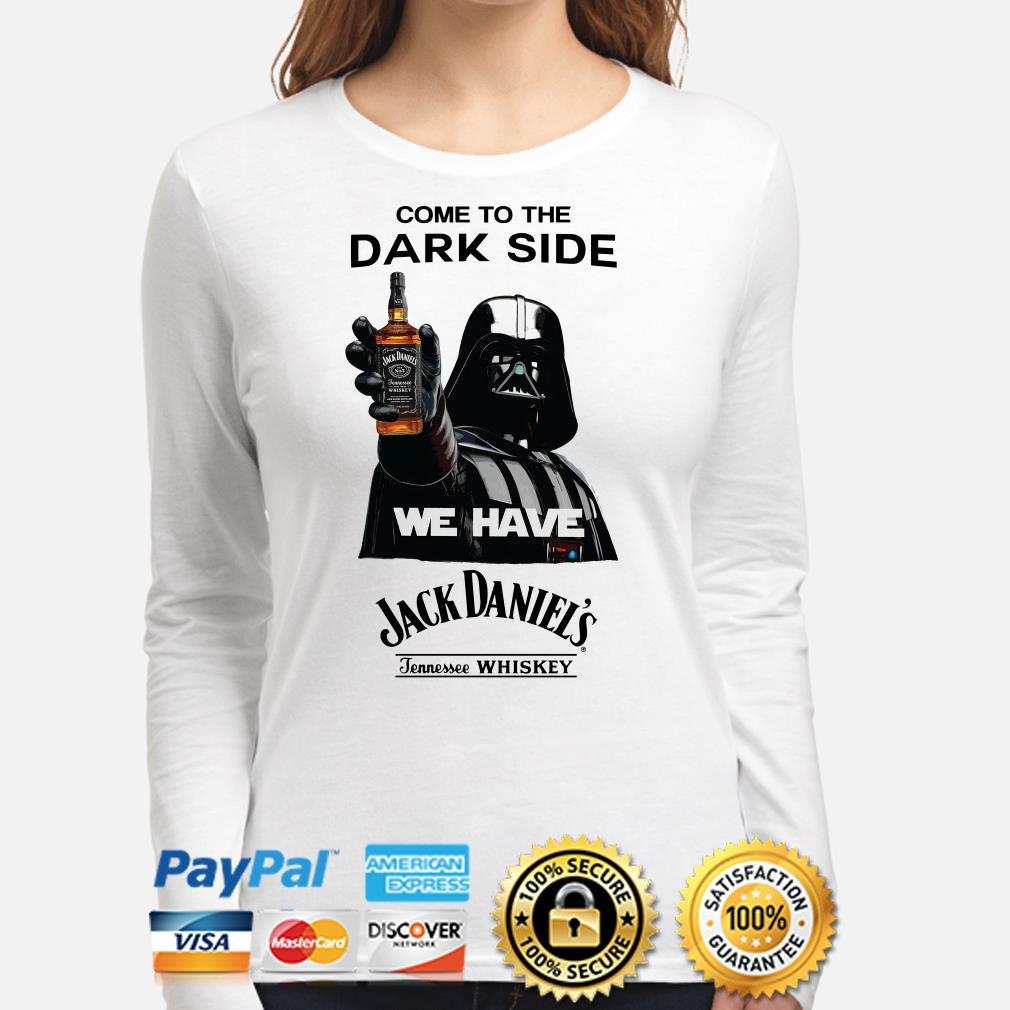 Darth Vader come to the dark side we have Jack Daniel's Tennessee Whiskey Long sleeve