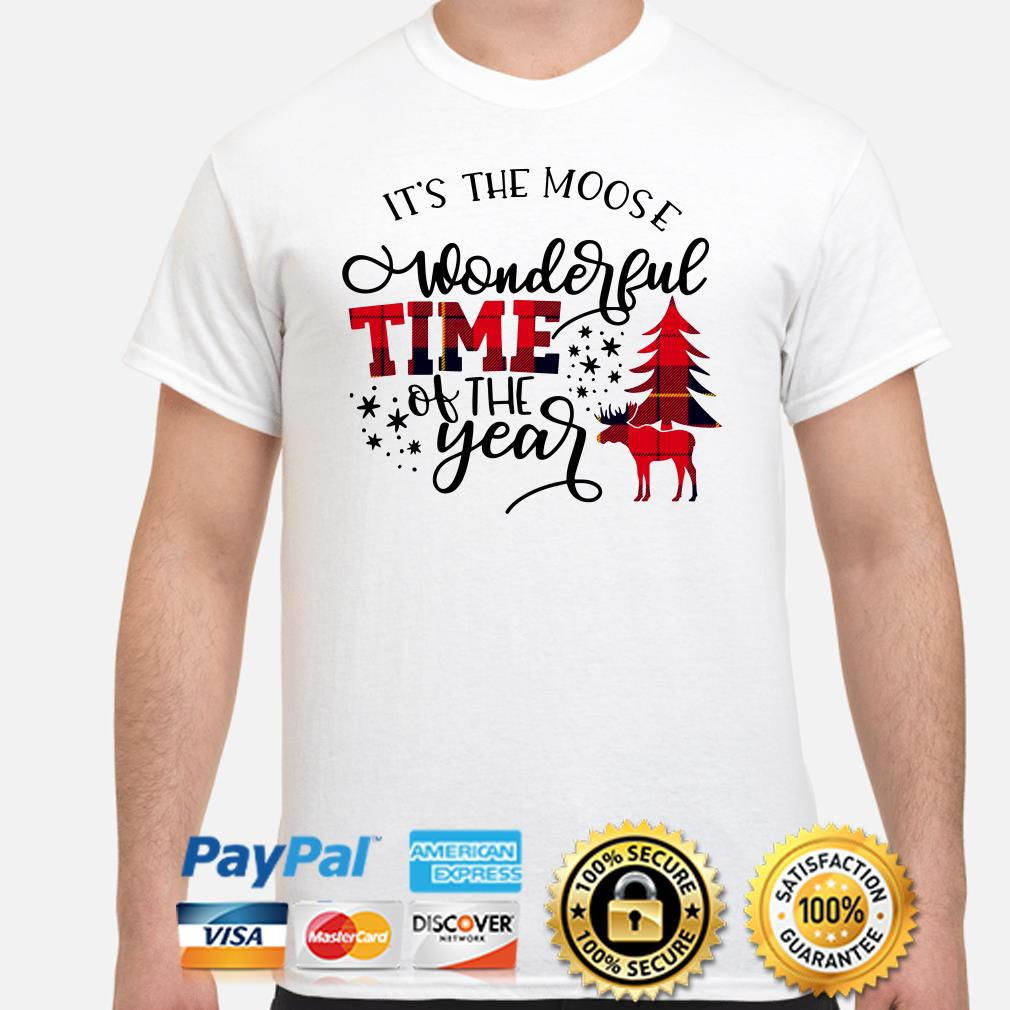 Deer it's the moose wonderful time of the years shirt