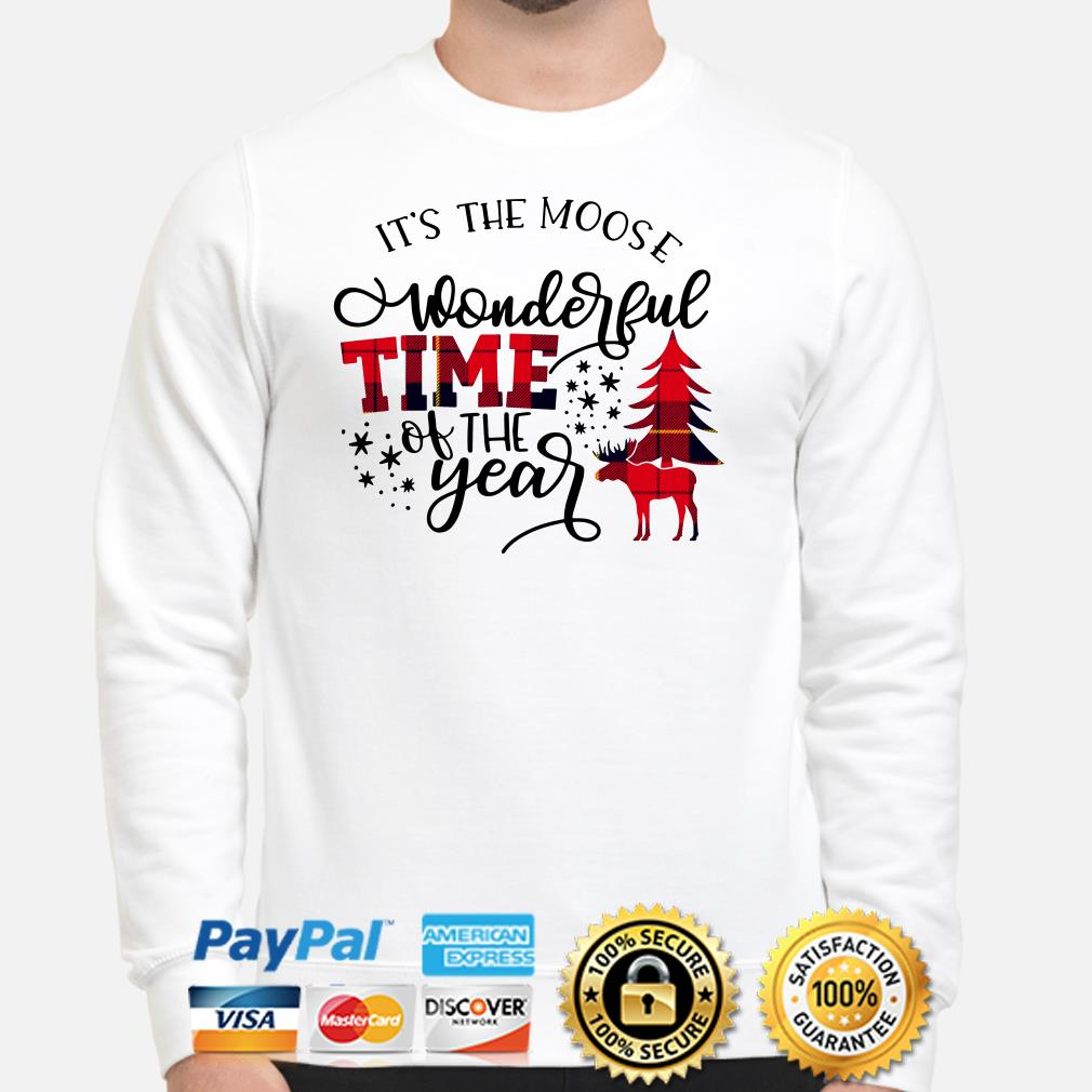 Deer it's the moose wonderful time of the years sweater