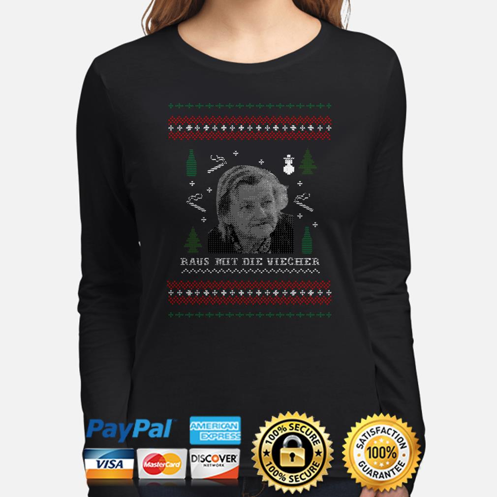 Familie Ritter Raus Mit Die Viecher ugly Christmas long sleeve