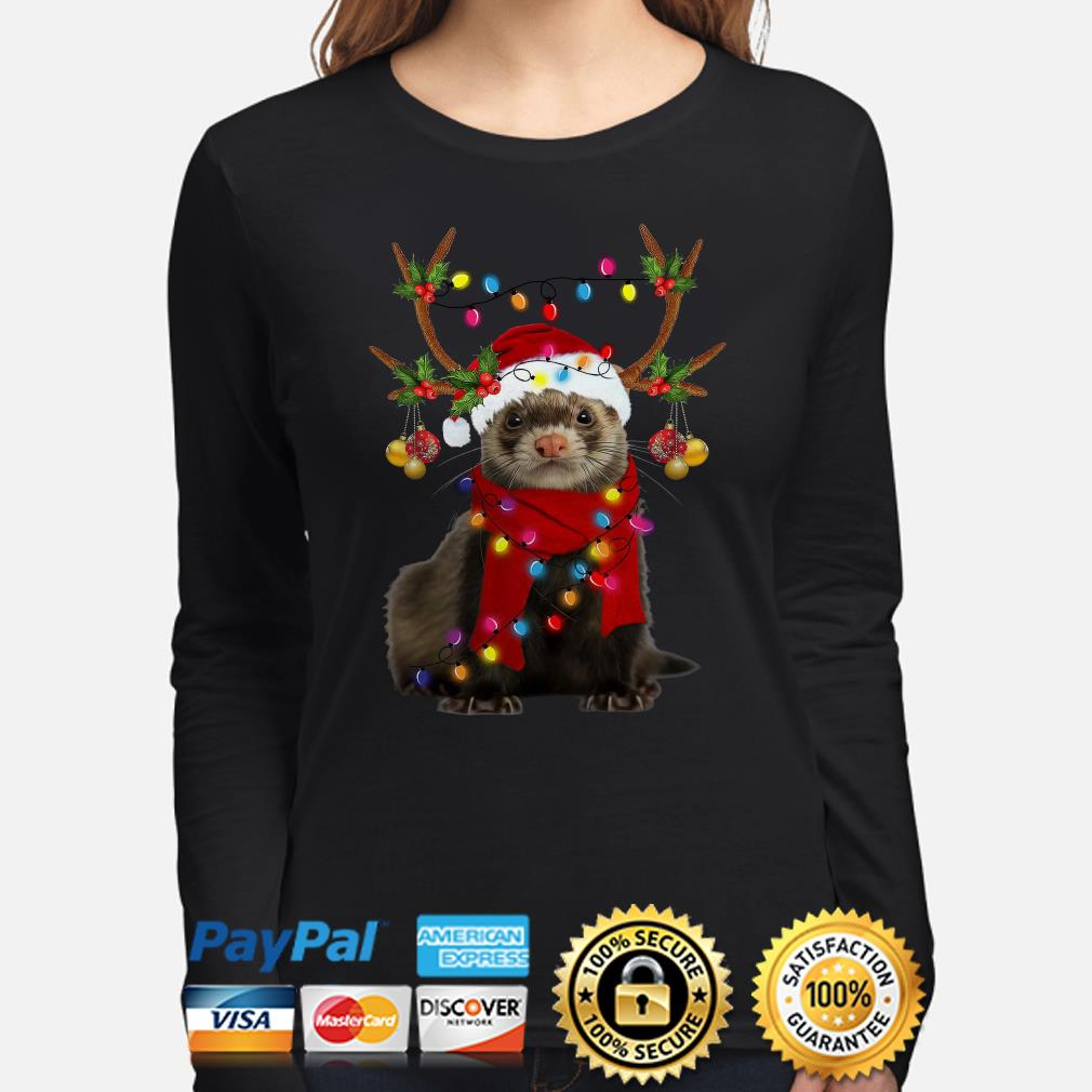 Ferret gorgeous reindeer Christmas long sleeve