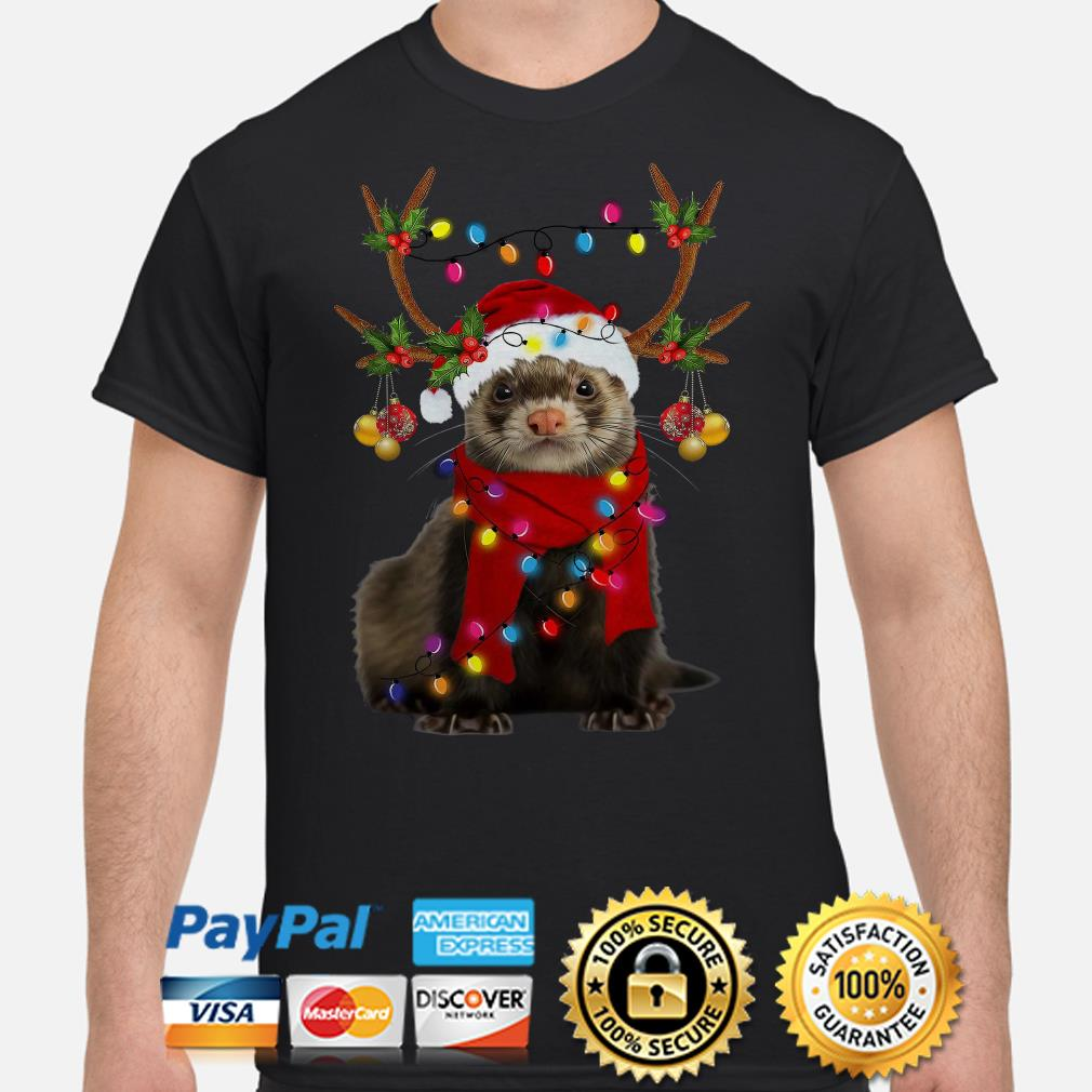 Ferret gorgeous reindeer Christmas t-shirt