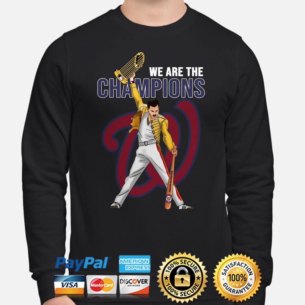 Freddie Mercury Washington Nationals We Are The Champions sweater