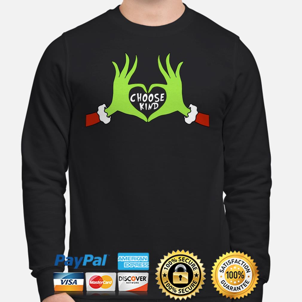 Grinch choose kind Christmas sweater