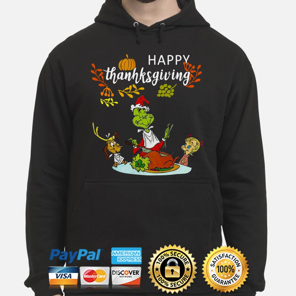 Grinch and friends happy Thanksgiving hoodie