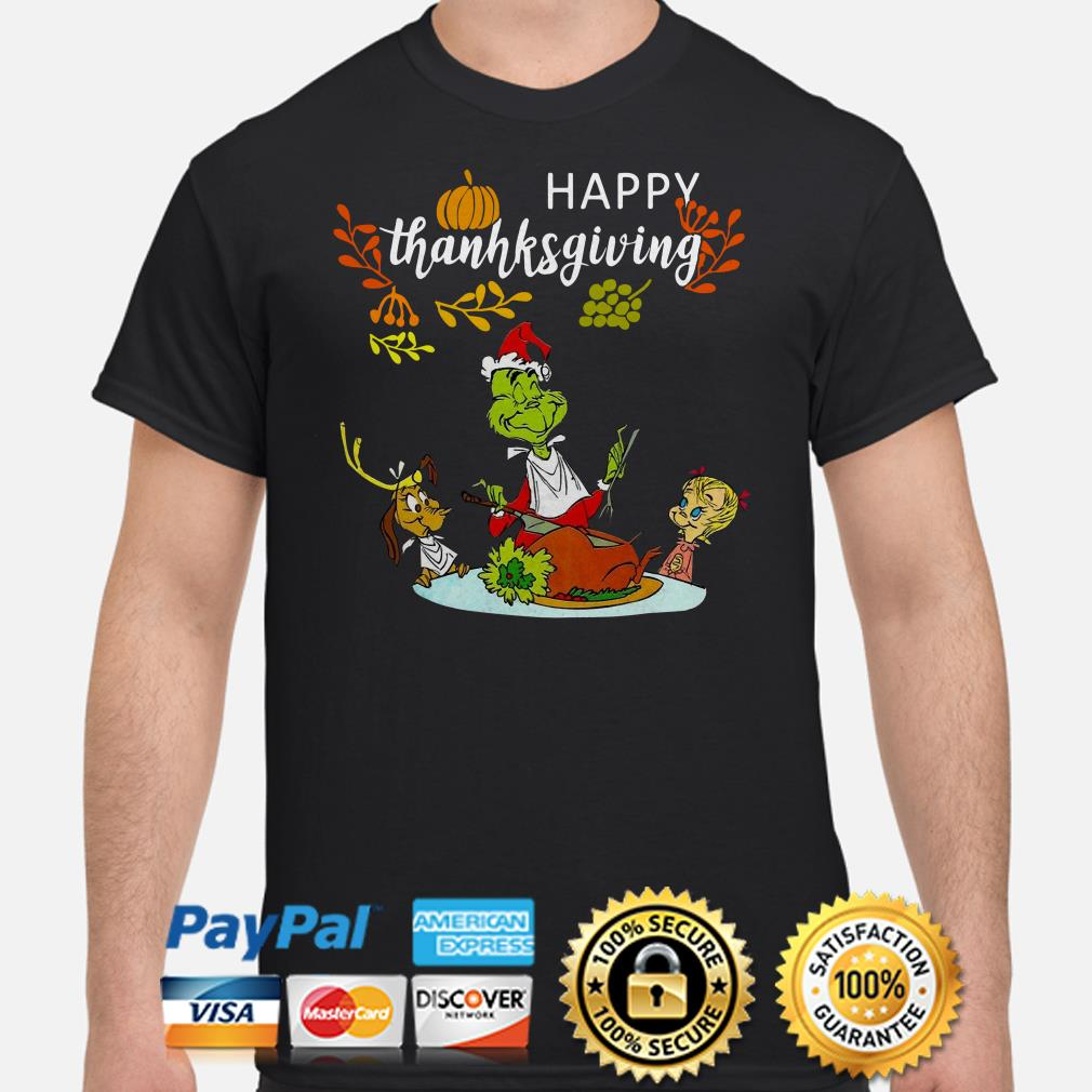 Grinch and friends happy Thanksgiving shirt