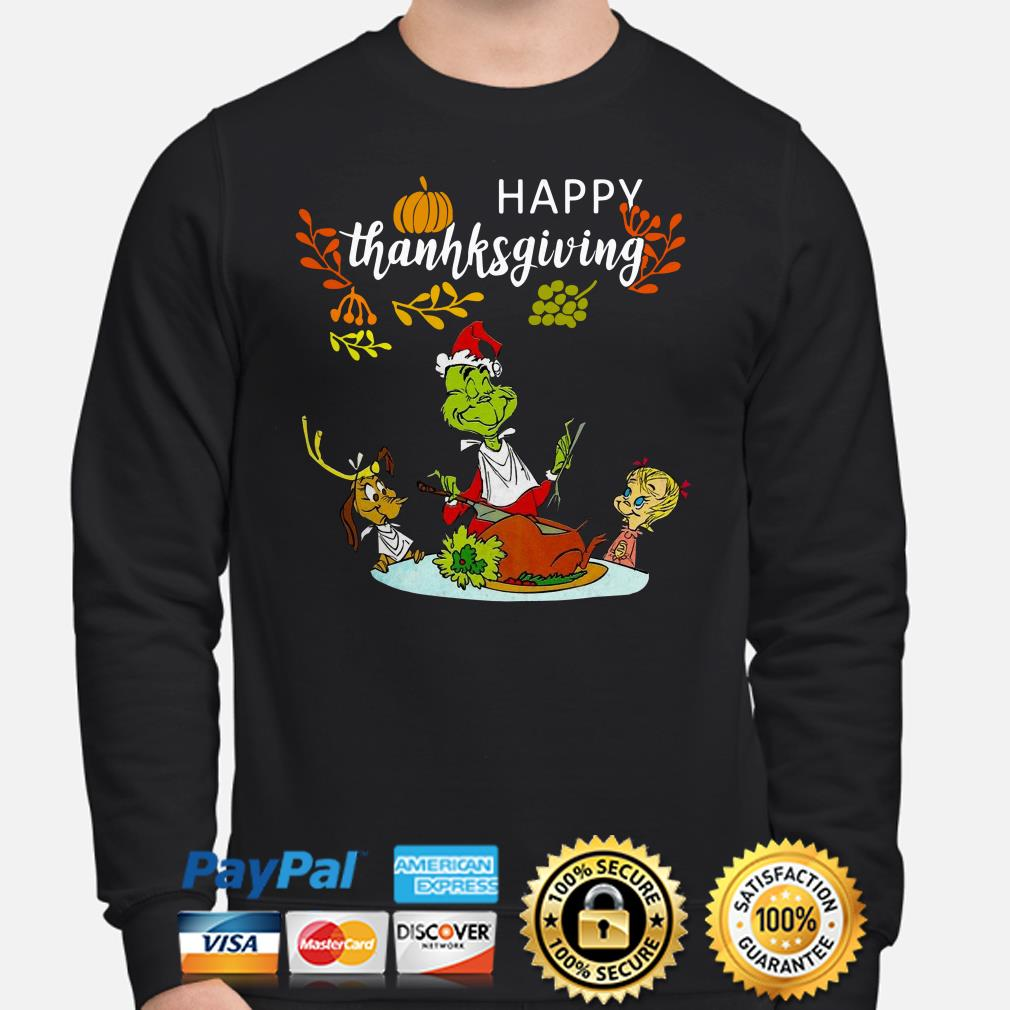 Grinch and friends happy Thanksgiving sweater