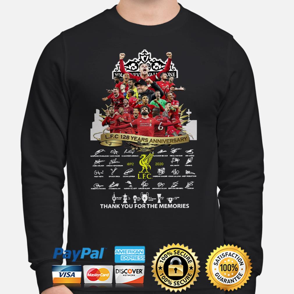 Liverpool FC 128 years anniversary thank you for the memories sweater