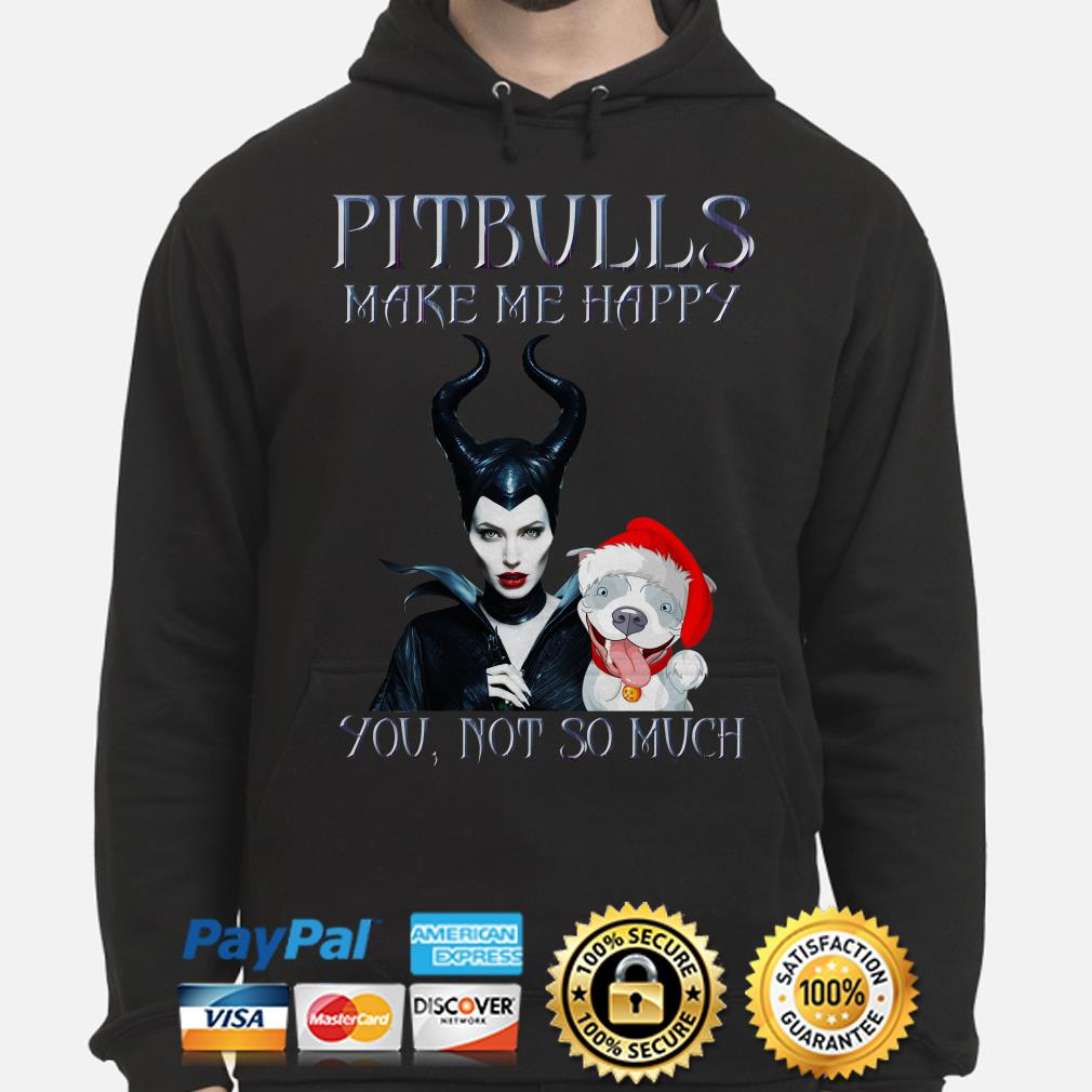 Maleficent pitbulls make happy you not so much Christmas hoodie