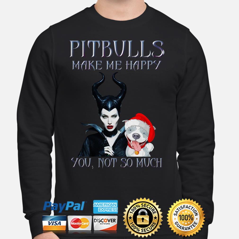 Maleficent pitbulls make happy you not so much Christmas sweater