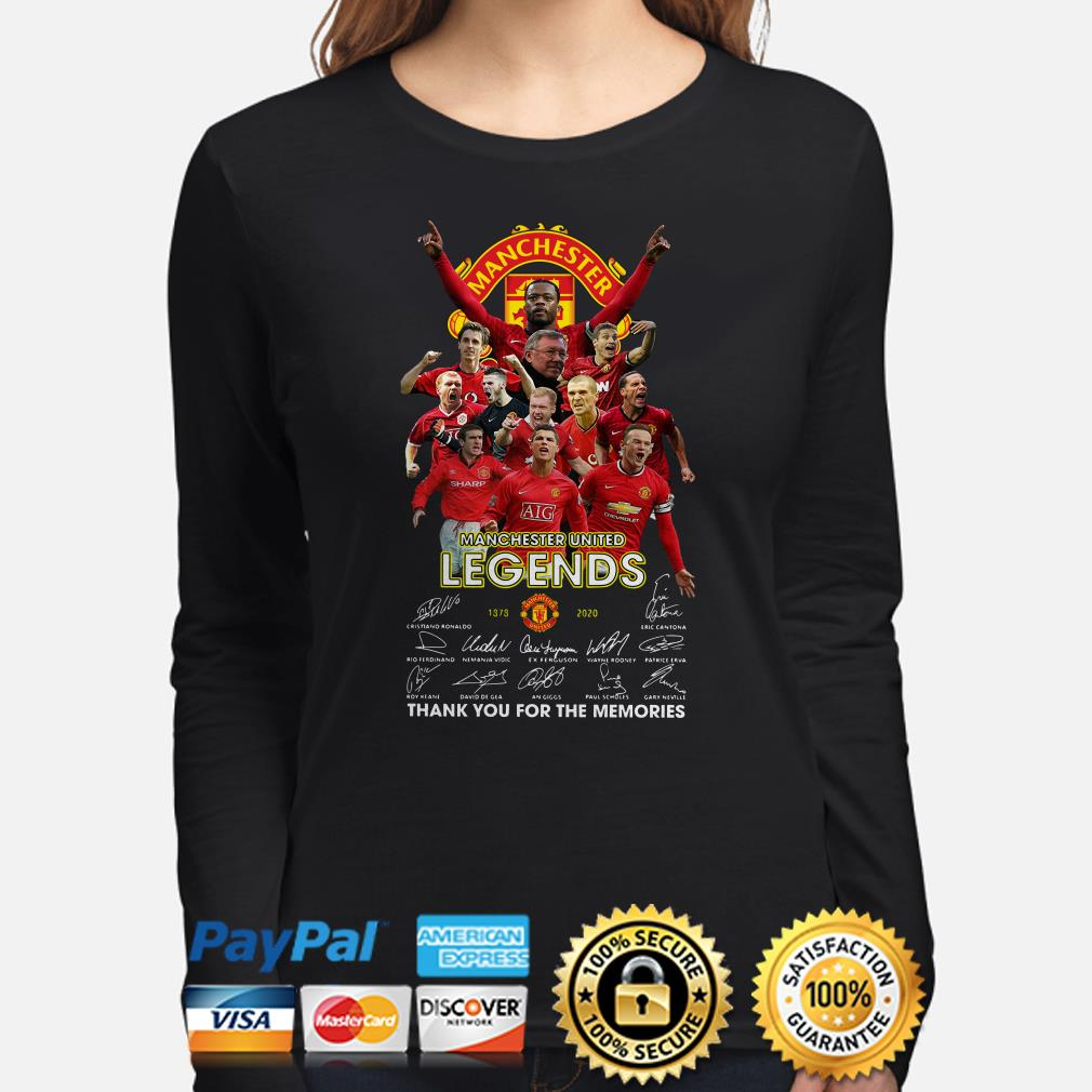 Manchester United Legends signature thank you for the memories Long sleeve